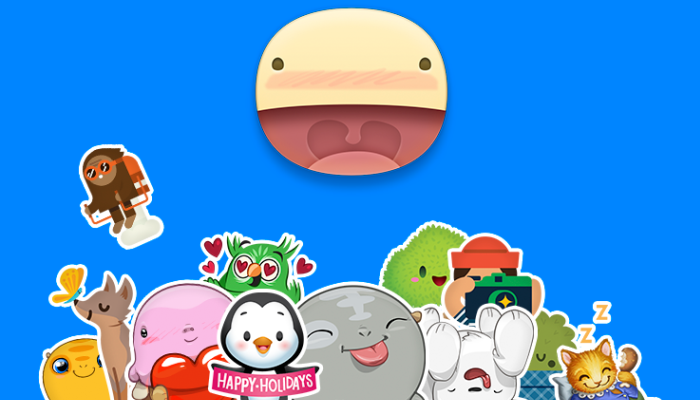 FB Messenger Holiday Stickers