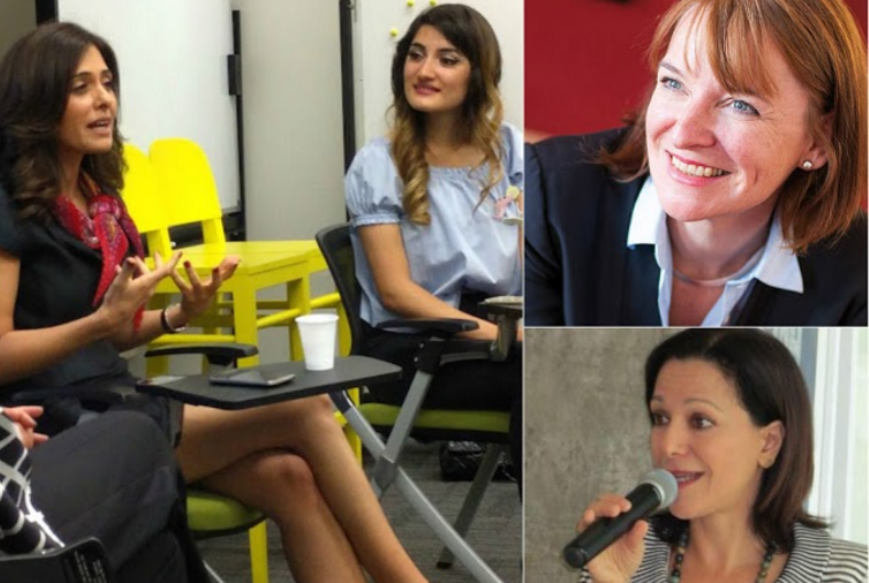 Clockwise: Samar Akrouk, Hayla Ghazal, Edina Heal, Mona Ataya