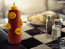 Samsung Says Easy To Spill, Easy To Clean In New Print Ad