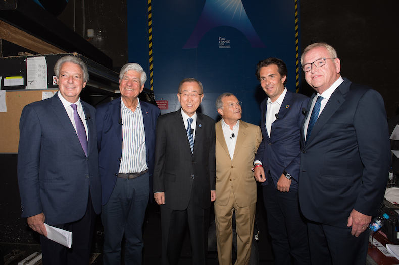 Michael Roth, Chairman and Chief Executive Officer of IPG, Maurice Lévy, Chairman and Chief Executive Officer of the Publicis Groupe, UN Secretary General Ban ki-Moon, Sir Martin Sorrell, founder and Chief Executive Officer of WPP, Yannick Bolloré, Chairman and Chief Executive Officer of Havas and John Wren, President and Chief Executive Officer of Omnicom, and -